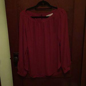 Loft size large red blouse